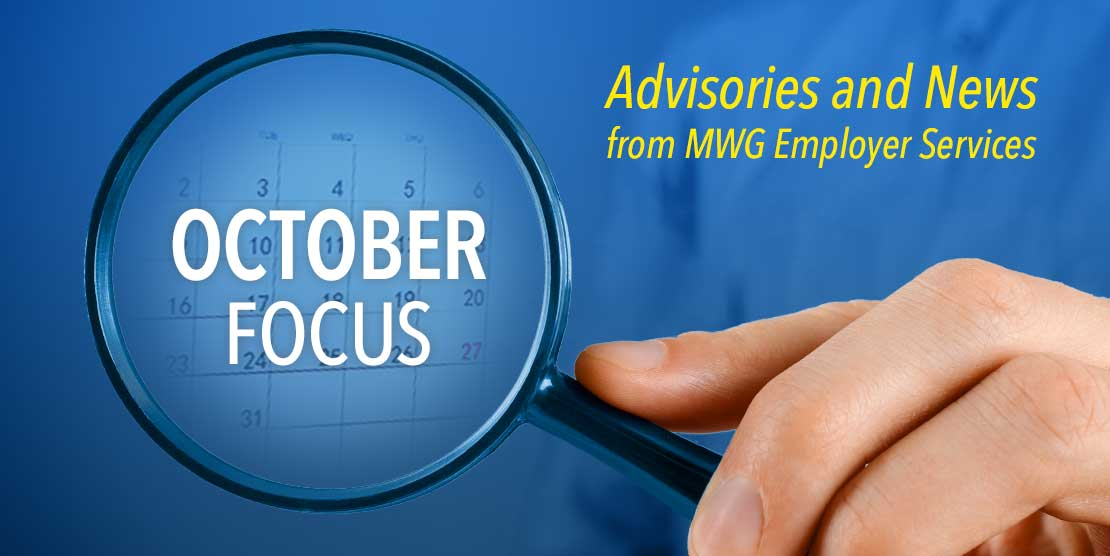 Advisories and News from MWG Employer Services